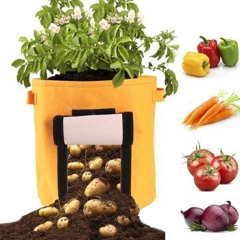 S,M,L Potato Grow Planter PE Cloth Planting Container Bag Vegetable gardening jardineria Thicken Garden Pot Planting Grow Bag #patiodepapas