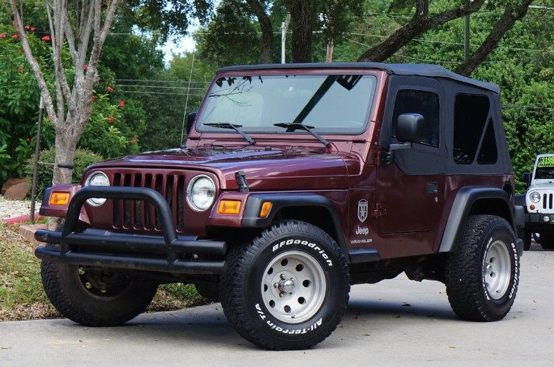 2003 Sienna Red Jeep Wrangler X New Soft Top And Uppers
