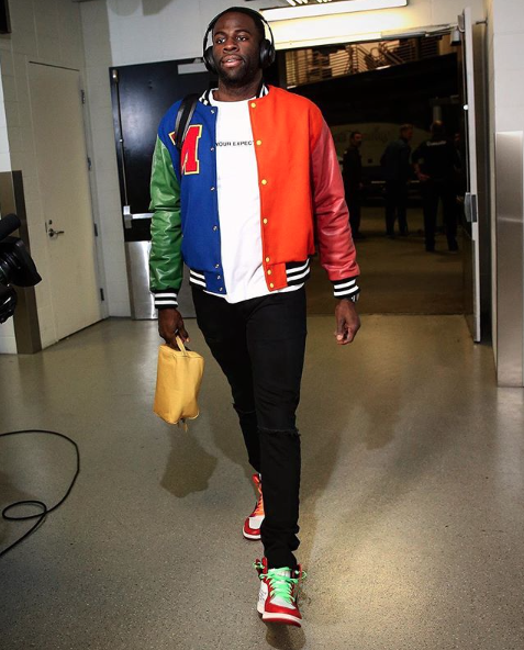 5a7d8169d87 draymond green wearing our toiletry bag // ig: upscalehype Target Center,  Nba Fashion