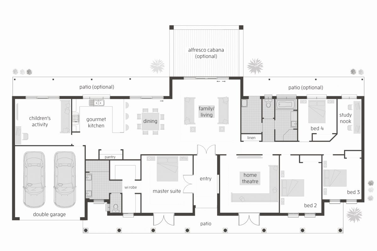 4 Br House Plans Inspirational Floor Plan Friday 4 Bedroom Children S Activity Room House Plans Australia Open House Plans Floor Plan 4 Bedroom