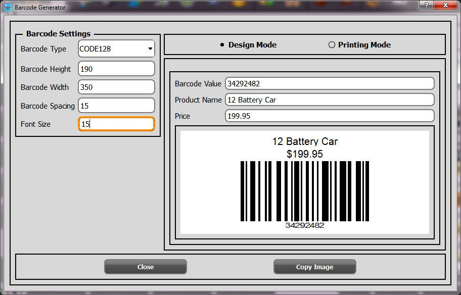 Starcode Barcode Label Designer Can Generate Over 50 Different Types Of Barcodes Including The Qr Codes Barcode Labels Inventory Management Software Pos