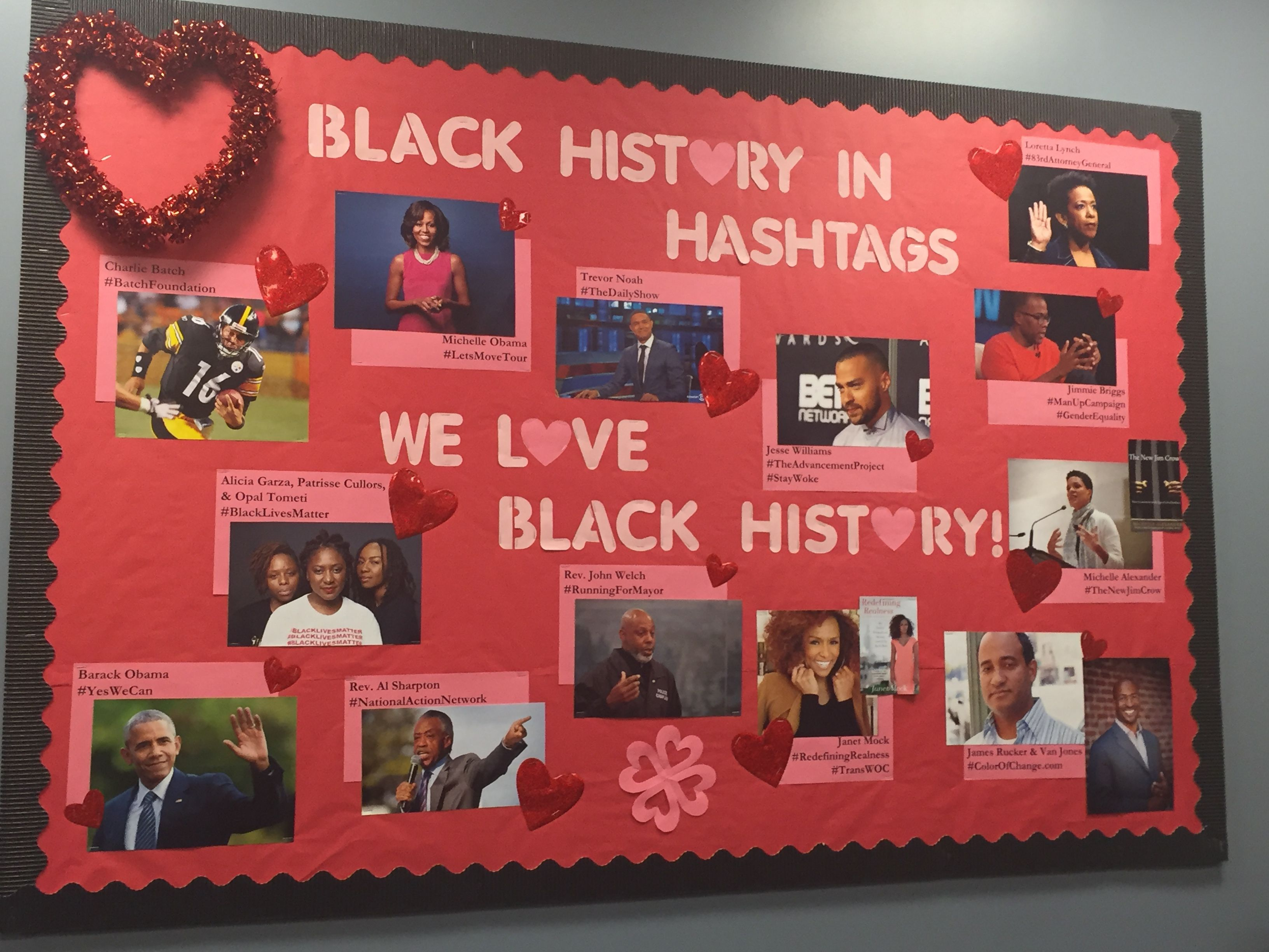 This is our offices 39 bulletin board for black history for Black bulletin board ideas