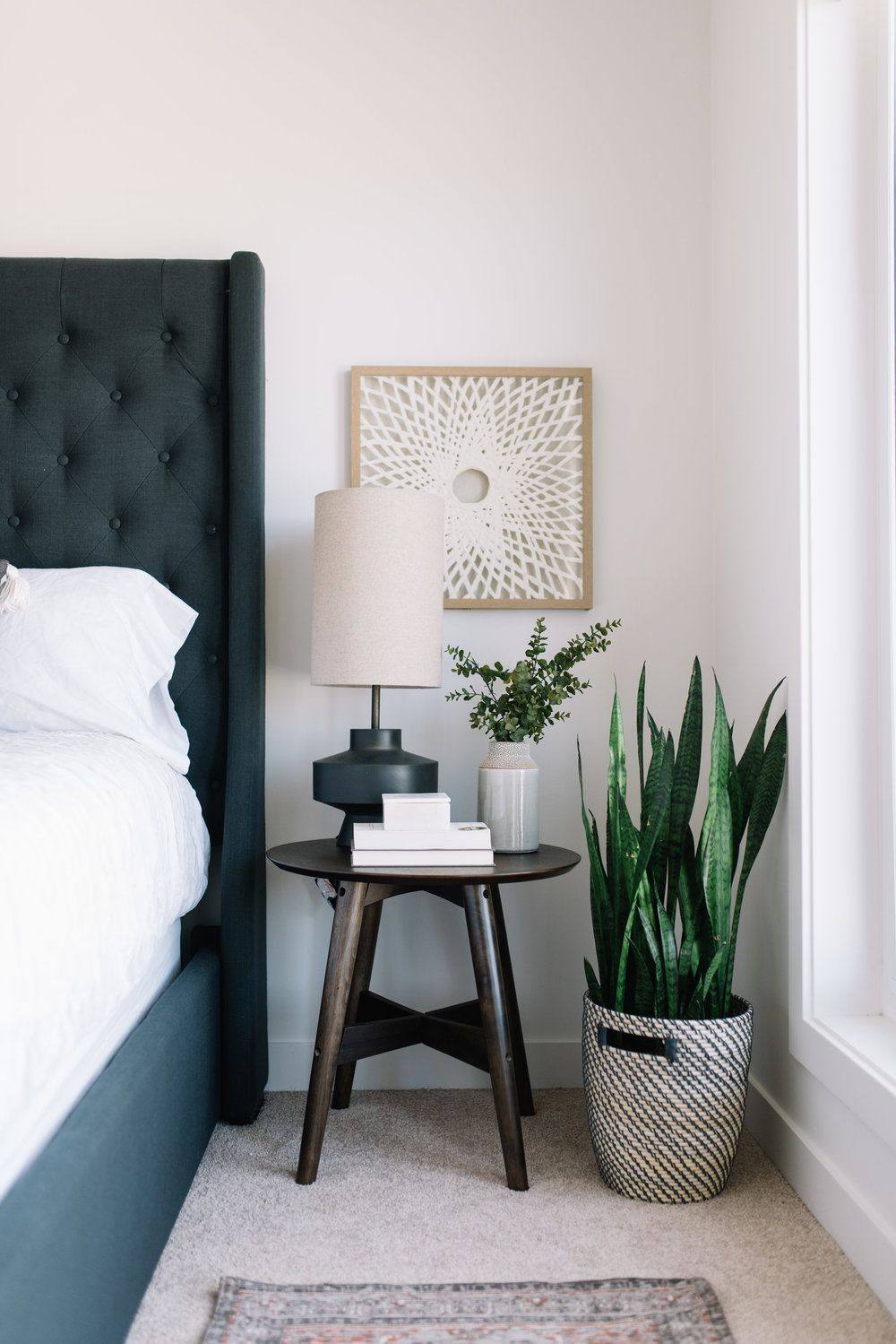 Moving Up A Peek At Our Bedroom Refresh In 2020 Bedside Table