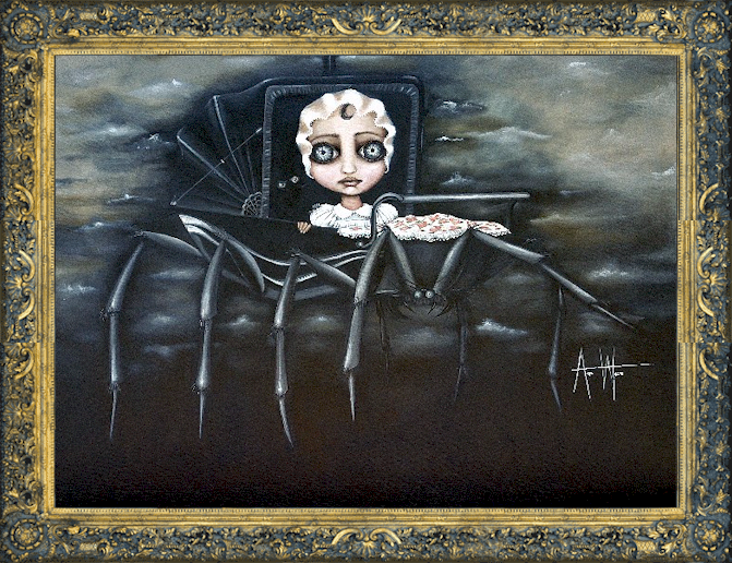 FANTASY ART PRINT Babysitter Angelina Wrona
