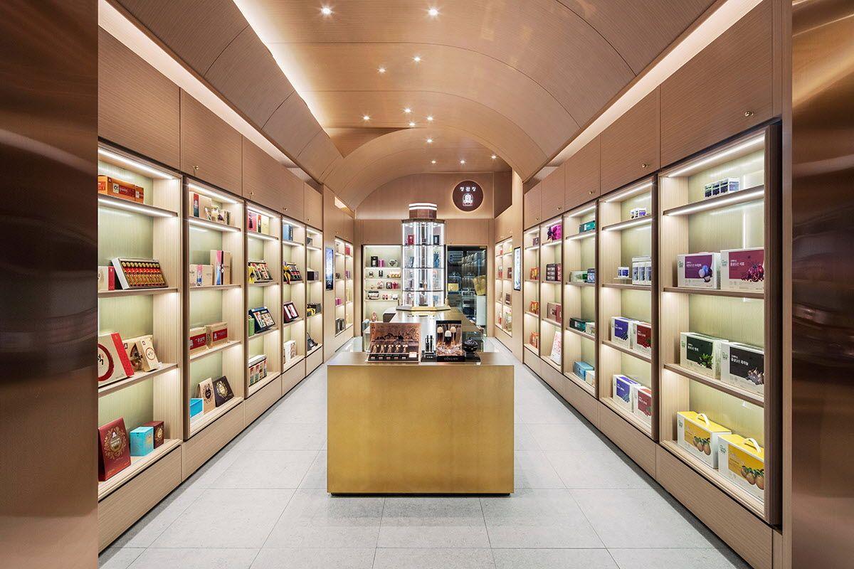 39a028b01 cheong kwan jang hub Cosmetic Shop, Cosmetic Stores, Popcorn Shop, Retail  Interior Design