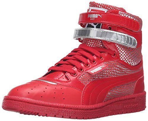 ed3abb9247b5 PUMA Womens Sky Ii Hi Futur Minimal Wns Basketball Shoe Barbados Cherry 85  M US