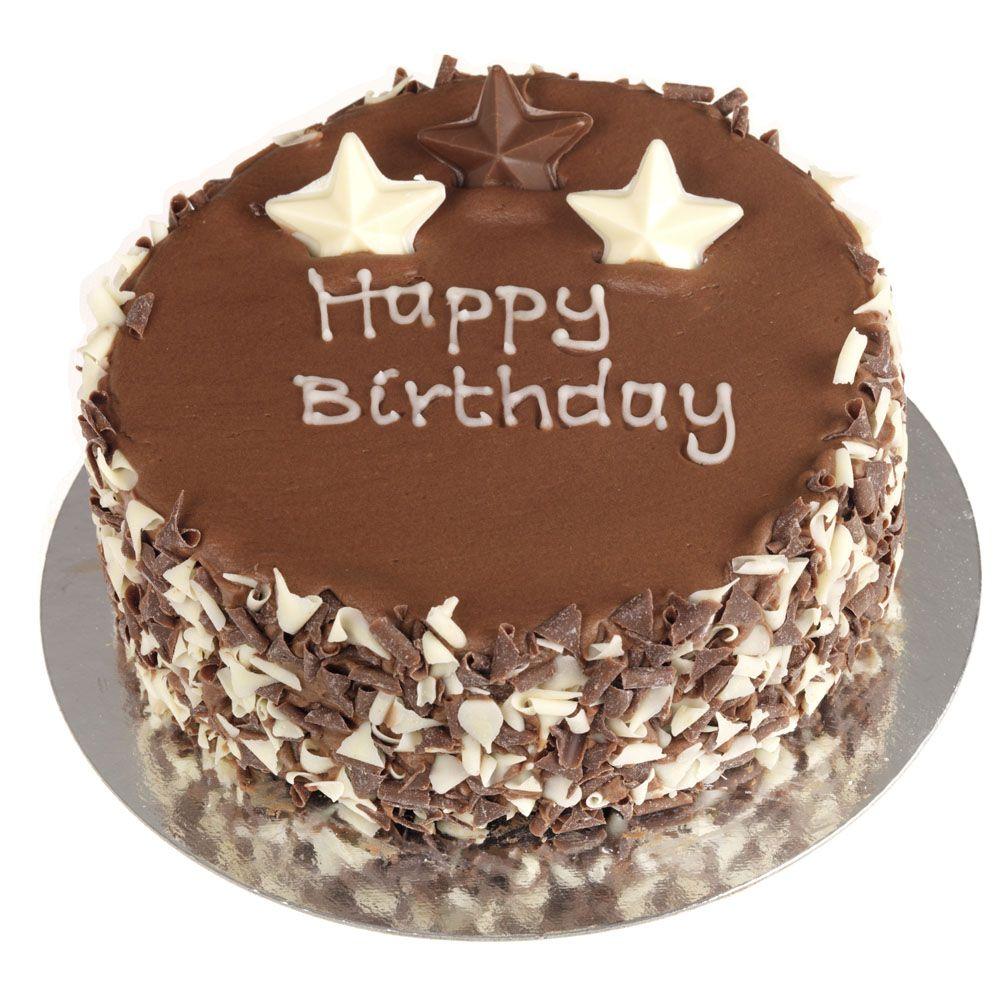 Happy Birthday Chocolate Cakes With Flowers