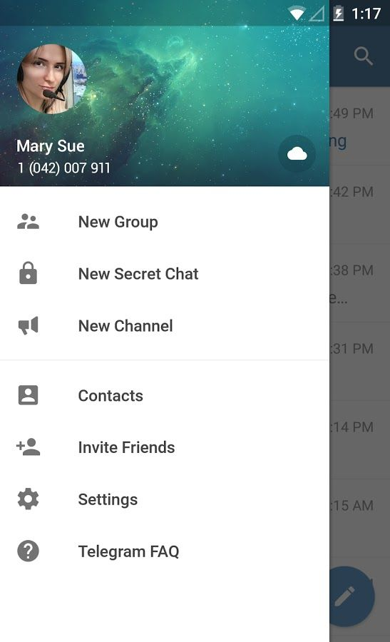 Telegram, the encrypted messaging platform for Android