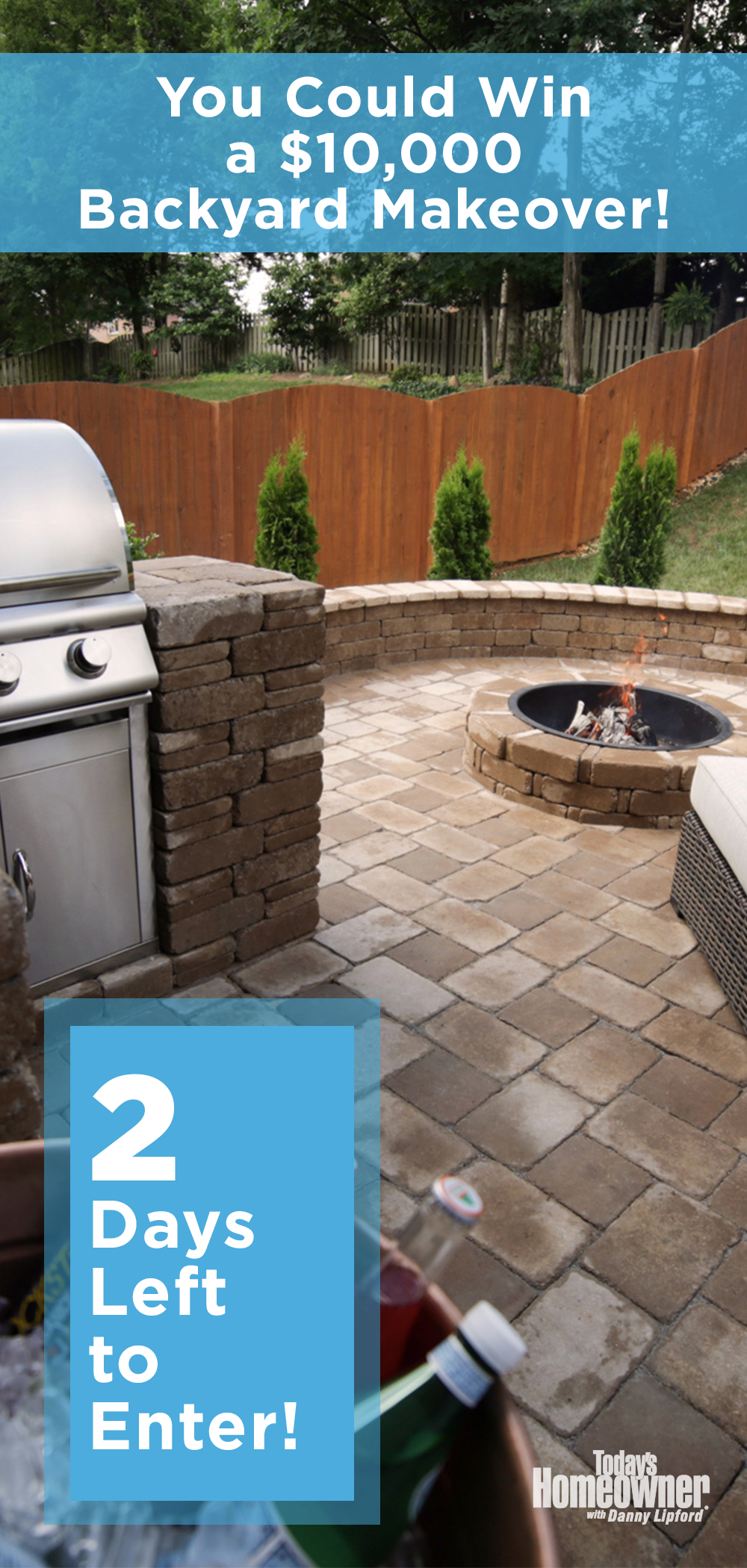 2 Days Left To Enter Our Backyard Paradise Contest Backyard Backyard Makeover Backyard Paradise