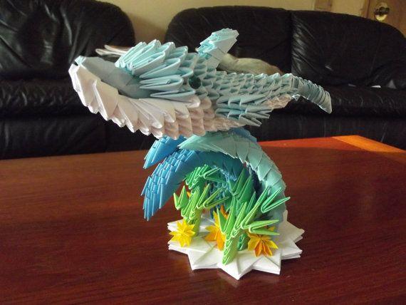 3D Origami Dolphin Di KarenOrigami Su Etsy