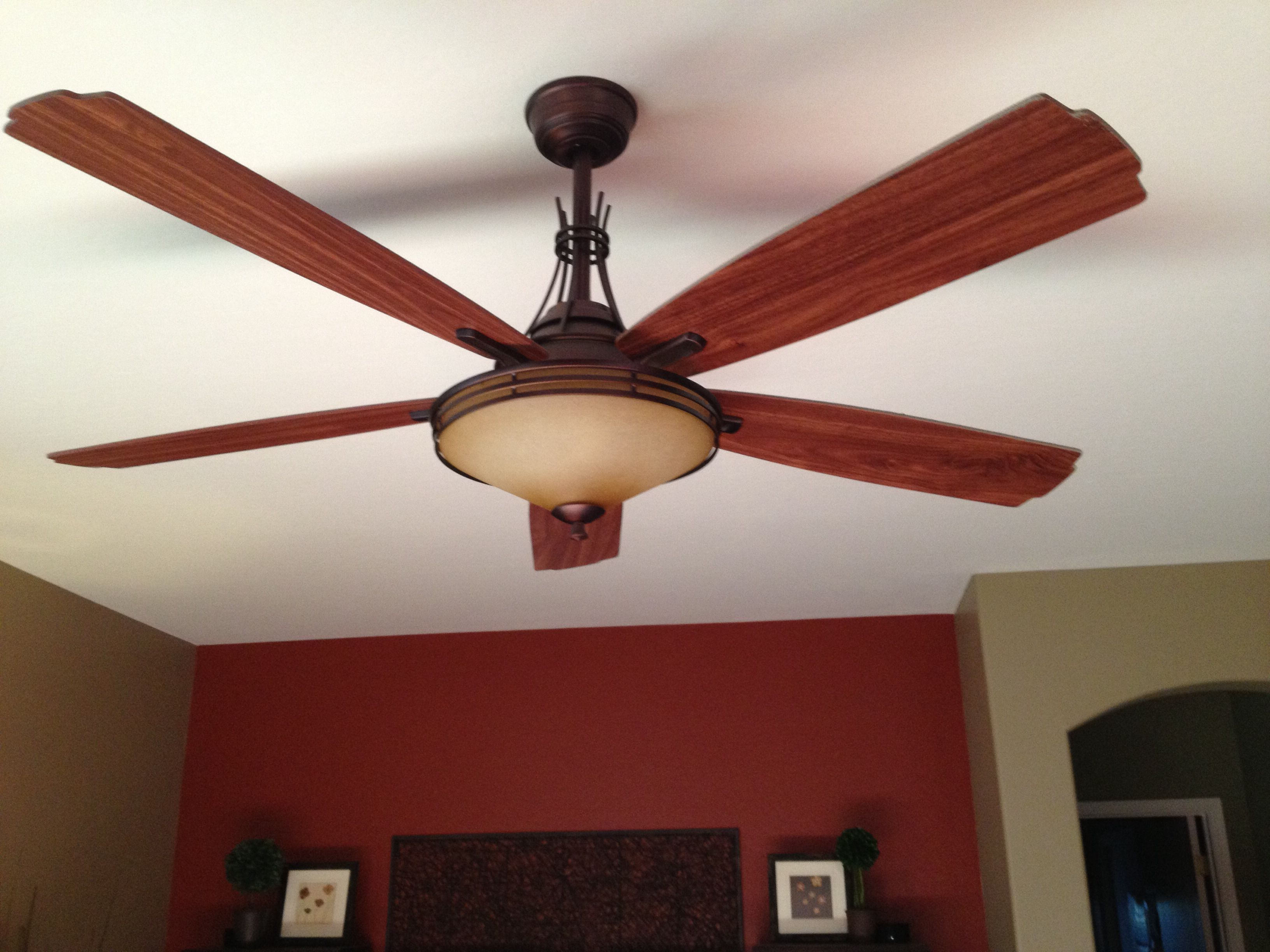 Mission Style Ceiling Fan In Great Room Ceiling Fan Porch