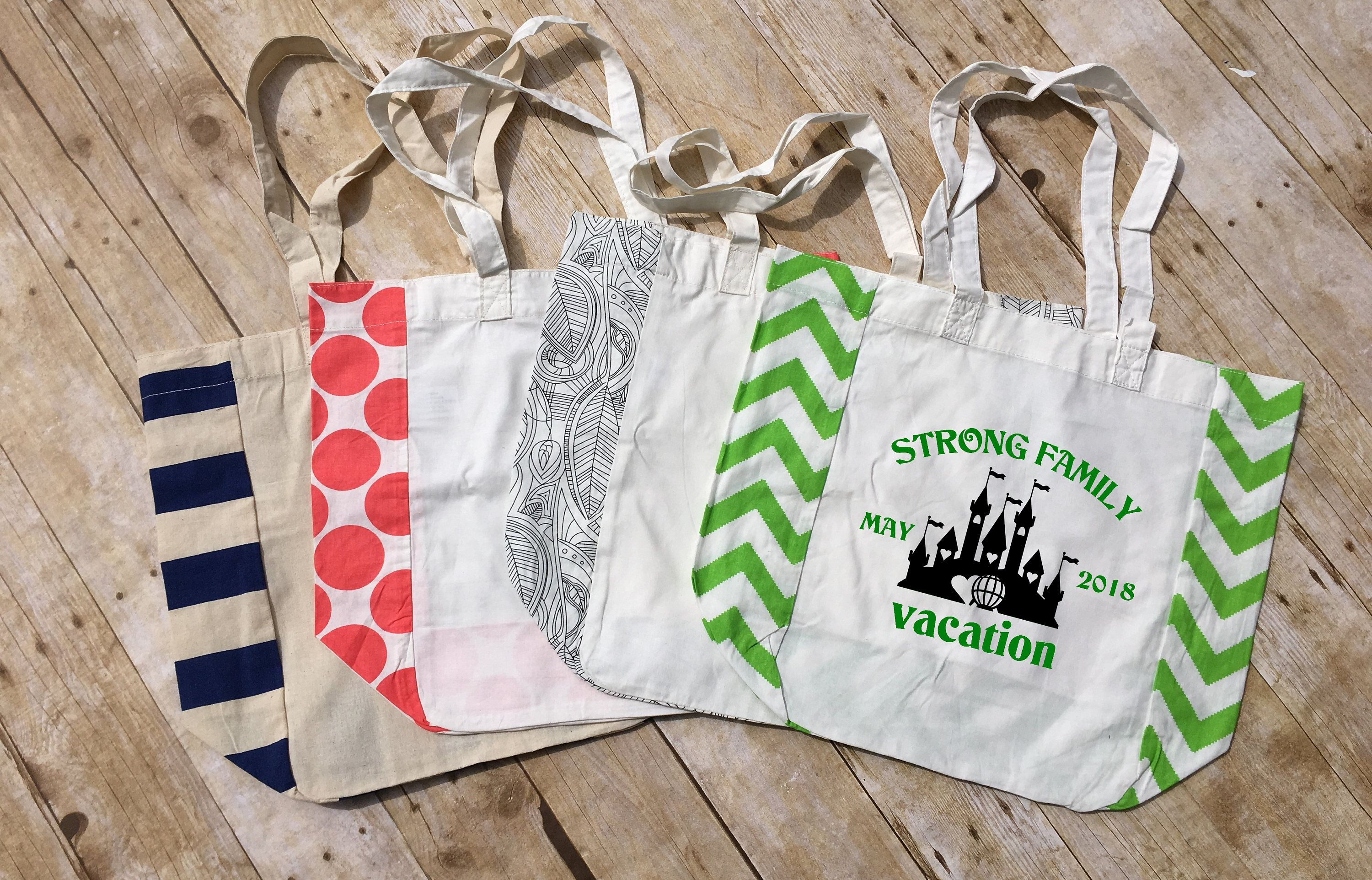 personalized family vacation bag. family vacation bag