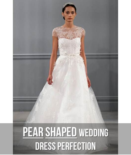 Wedding dress styles for pear shapes