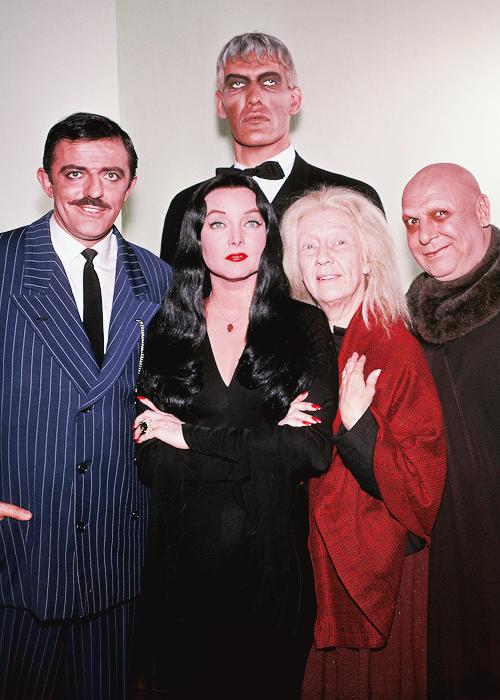 El Elenco Principal De La Serie La Familia Addams The Addams Family 1960 S Famosos La Familia Addams Programas De Televisión Antiguos