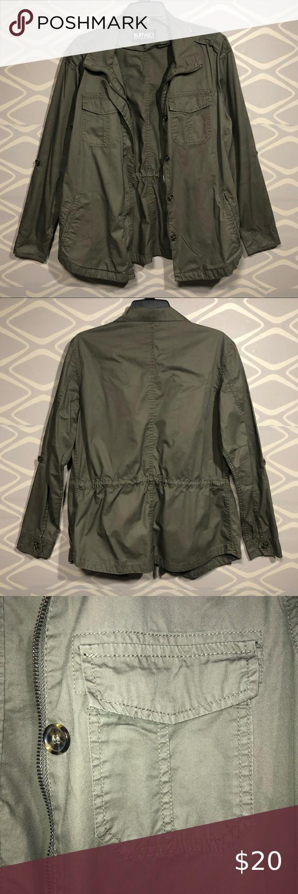Buffalo David Bitton Utility Jacket Utility Jacket Olive Utility Jacket Jackets [ 1740 x 580 Pixel ]