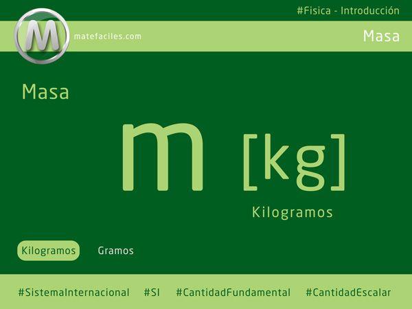 La #masa es una #cantidad #fundamental y #escalar de la #Física, sus #unidades son los #kilogramos, mismos que los utilizaremos para resolver #problemas. #matefaciles
