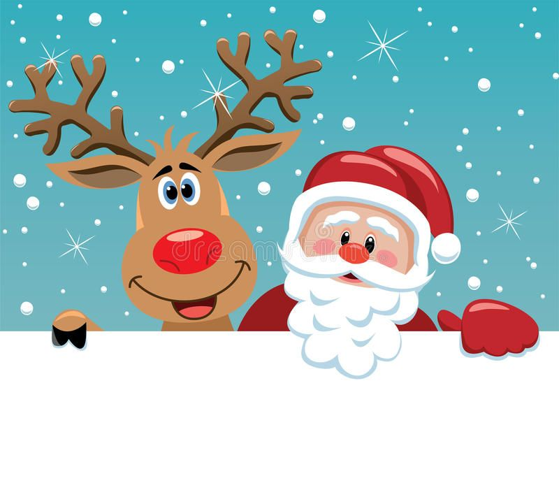 Santa Claus And Rudolph Deer Xmas Illustration Of Santa Claus And Rudolph Deer Affiliate Christmas Organization Magic Reindeer Food Christmas Activities