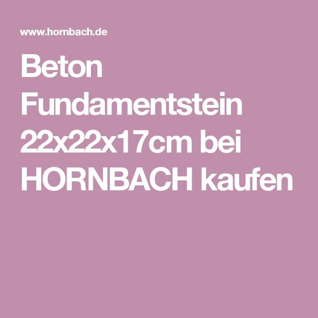 Beton Fundamentstein 22x22x17cm тераса Fundamentsteine