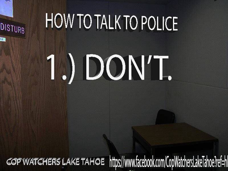 How to talk to the Police Lawyer humor, Law school humor