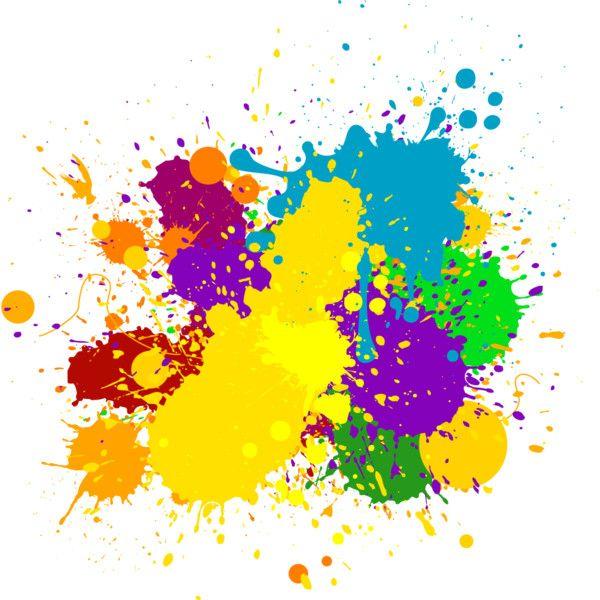 taches de peinture couleurs splash via Polyvore | Tache peinture, Éclaboussures de peinture ...