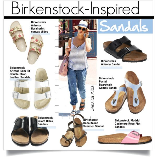 a5675f9838c1 WHERE CAN I BUY GUAM BIRKENSTOCK?! Birkenstock-Inspired Sandals by kusja on  Polyvore featuring Birkenstock, Jennifer Lopez, sandals, trend and ...