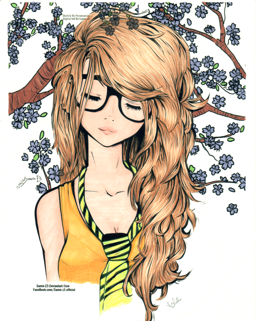 Cute Girl Colored By Valetha Deviantart Com On Deviantart Cute