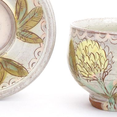 Shop: Cup & Saucer - The Clay Studio-- Lyla Goldstein $50-- I just may have to buy this!