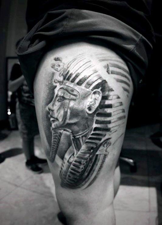 60 King Tut Tattoo Designs For Men Egyptian Ink Ideas Next