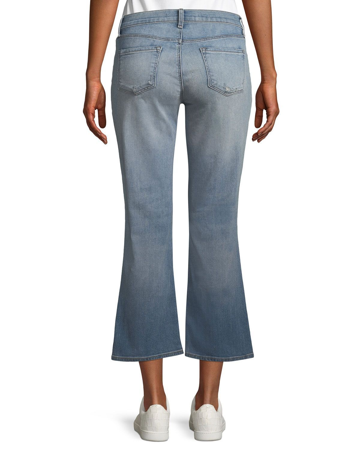71720e4772dc7 J Brand Selena Distressed Cropped Boot-Cut Jeans  MensJeans White Outfit  For Men