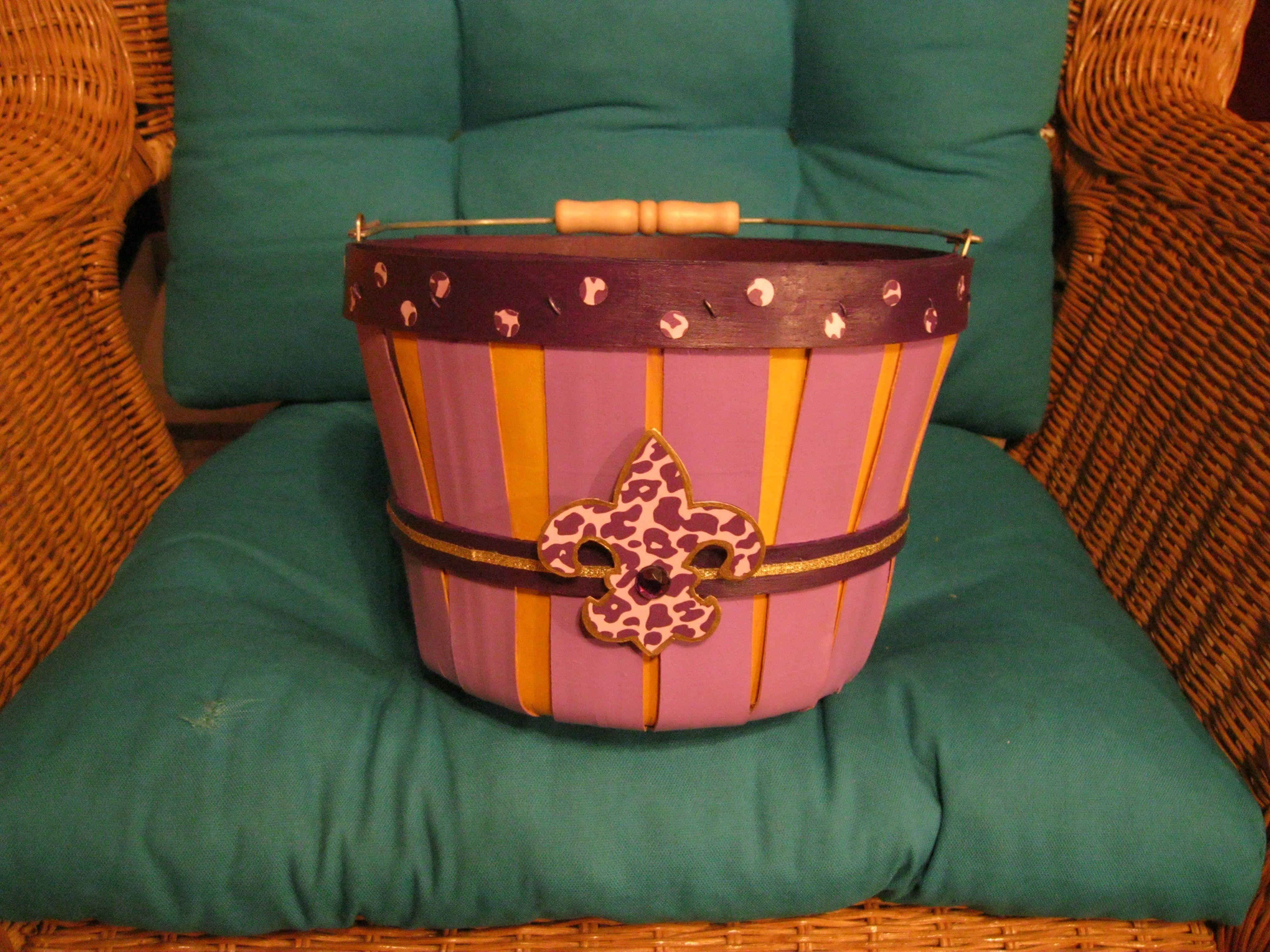 Basket purle/gold w// Fleur