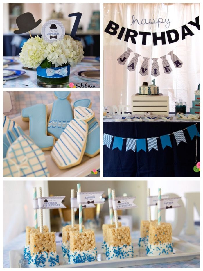 Little Man Themed Birthday Party Via Karas Ideas KarasPartyIdeas Littlemanparty 2