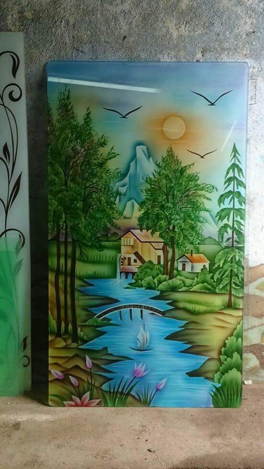 Color Design For Glass Glass Painting Designs Glass Etching Designs Door Glass Design