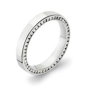 Side Set Womens Platinum Eternity Ring Wedding