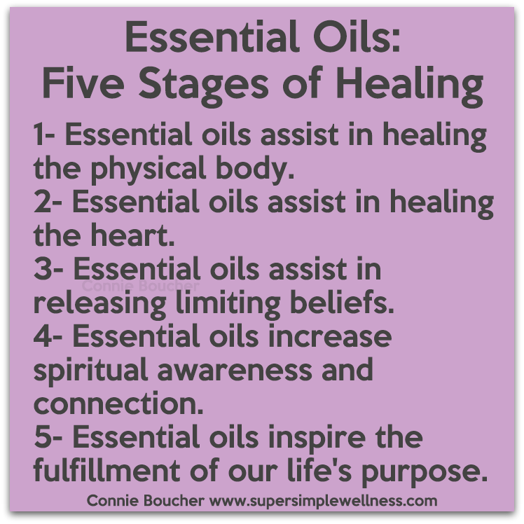 #EssentialOils: Five Stages of #Healing 1 Essential oils assist in healing the #physical #body. 2 Essential oils assist in healing the #heart. 3 Essential oils assist in #releasing limiting #beliefs. 4 Essential oils increase #spiritual #awareness and #connection. 5 Essential oils #inspire the fulfillment of our #life's purpose. www.mydoterra.com/corinneshemek/