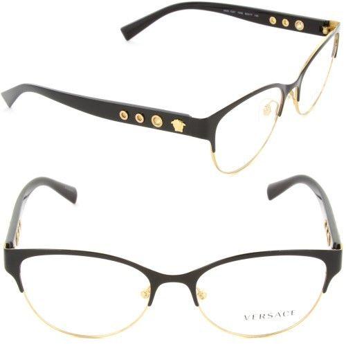 Versace Eyeglasses VE1237 VE/1237 1342 Black/Gold Full Rim Optical ...