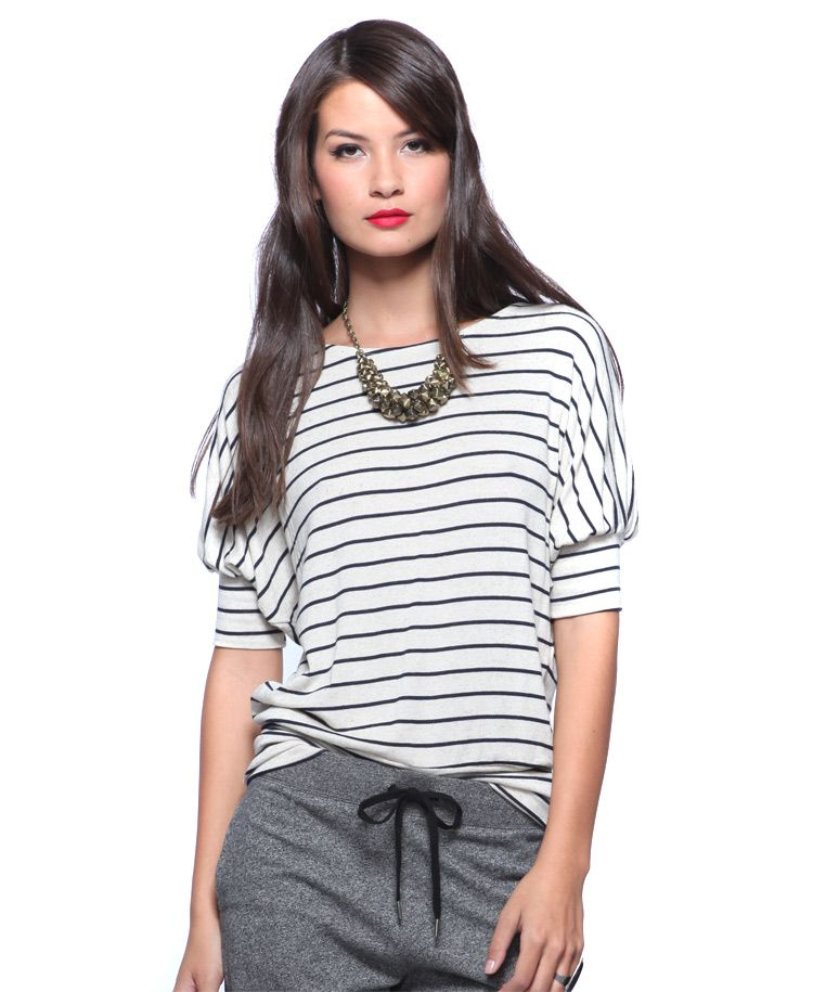 Female version of Lou's stripes top