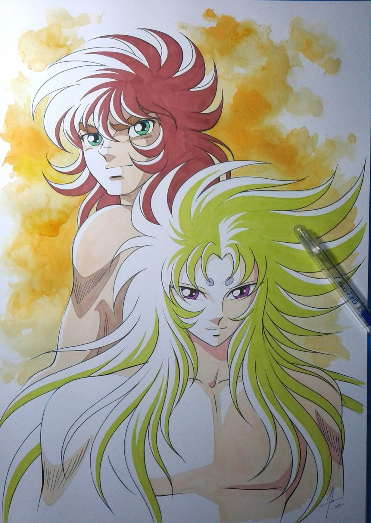 Saint Seiya Libra Saint Seiya Libra Dhoko And Aries Shion By Jerome Alquie