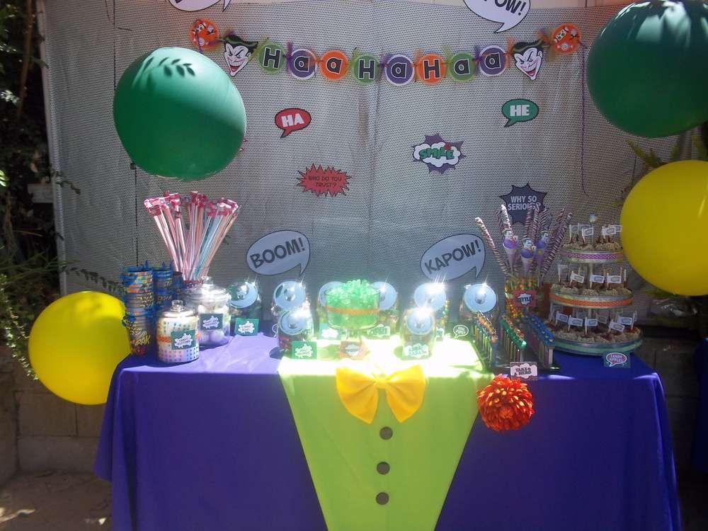 Batman Joker Birthday Party Ideas
