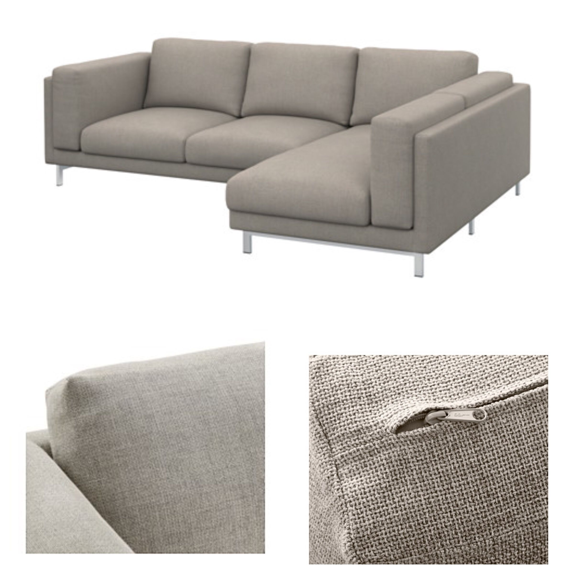 Ikea Nockeby Two Seat Sofa Ikea Nockeby Two Seat Sofa W Chaise Longue Right Tenö