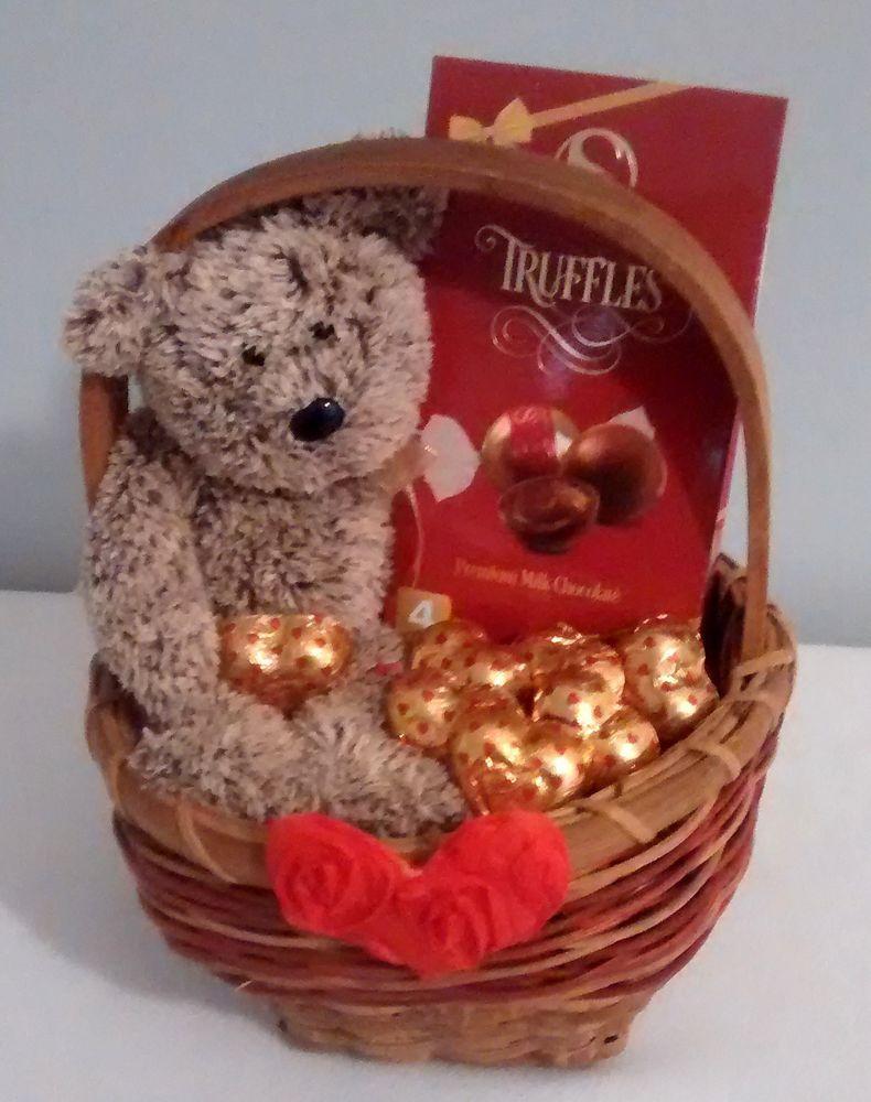 $15 @Ebay Small Valentines Day Bear Chocolate Gift Basket ...