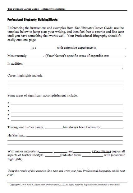 Biography Template Biography Report Form Template And Organizer