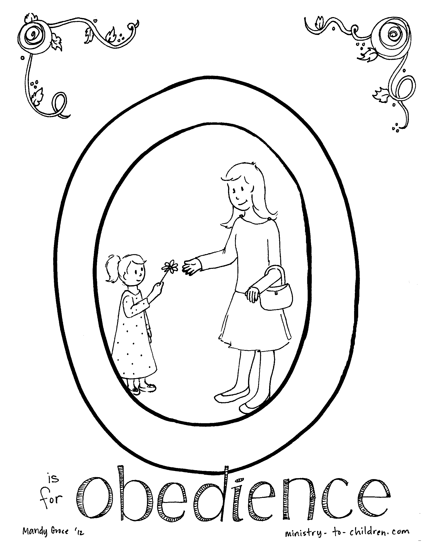 Obey God Coloring Page | Duam
