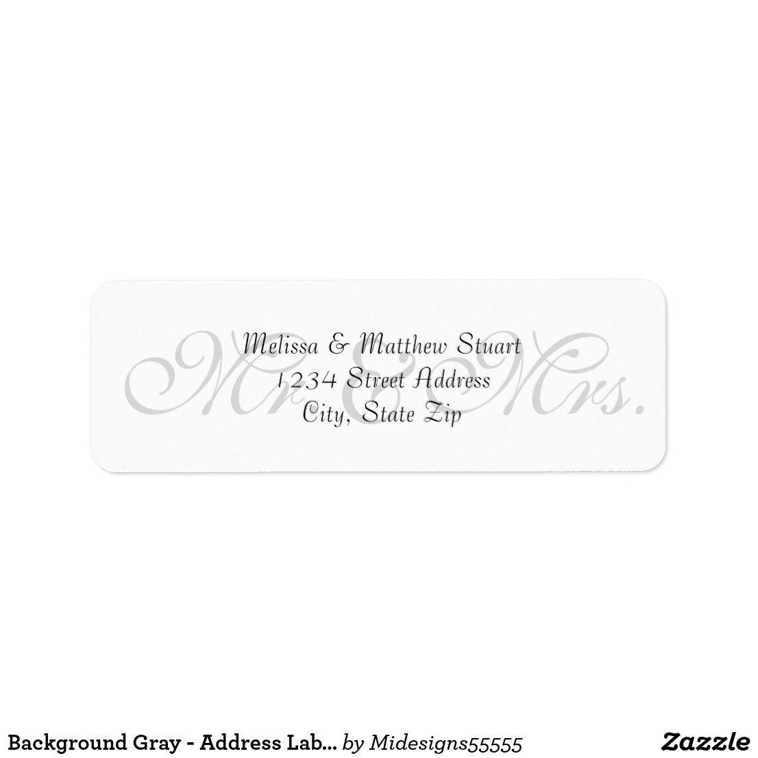 Background Gray - Address Labels | Zazzle.com #lipsbackground