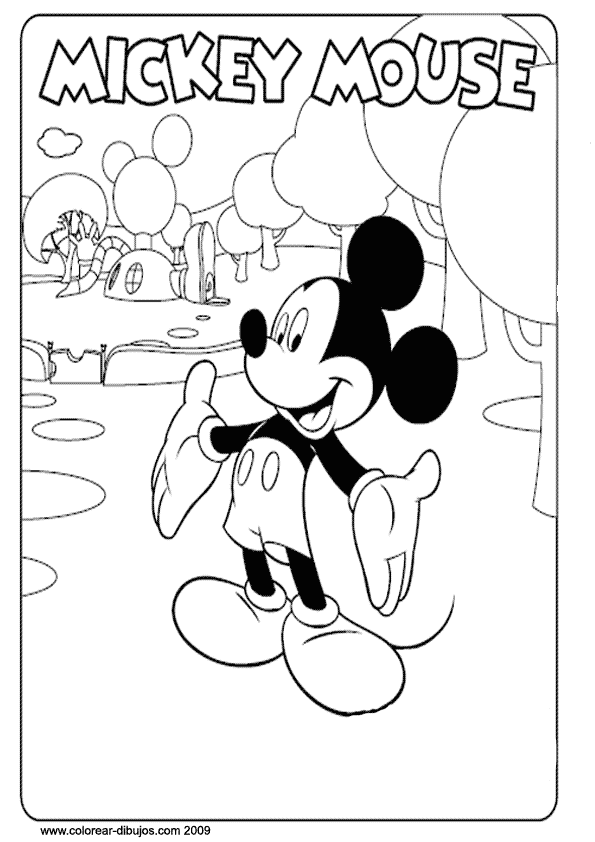 Mickey | Bordado | Mickey mouse coloring pages, Mickey mouse
