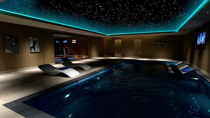 Swimming pool cinema design architecture pinterest Basement swimming pool construction