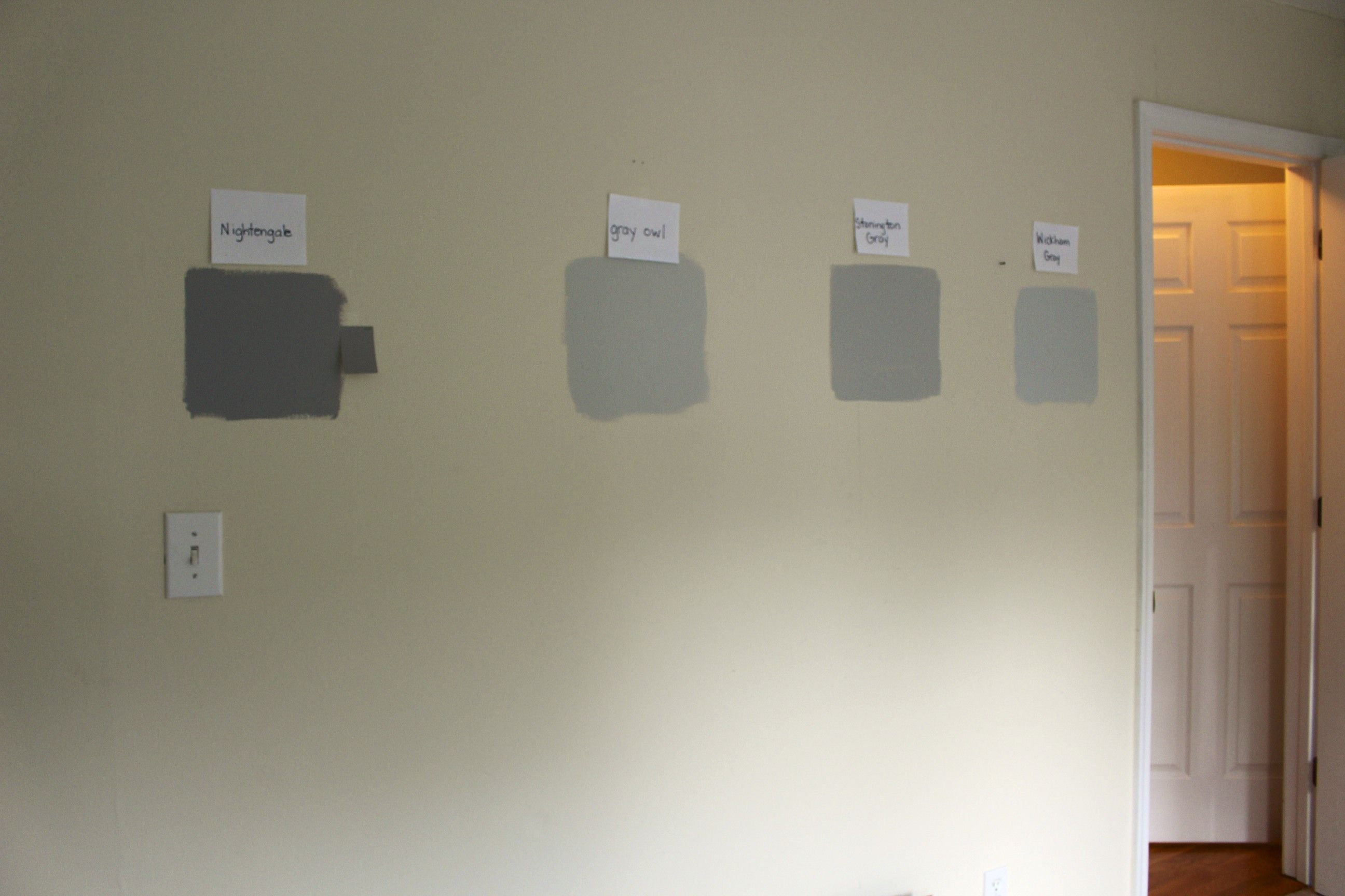 Gray Owl Vs Stonington Gray Shades Of Grey Grey Walls Interior Paint Colors