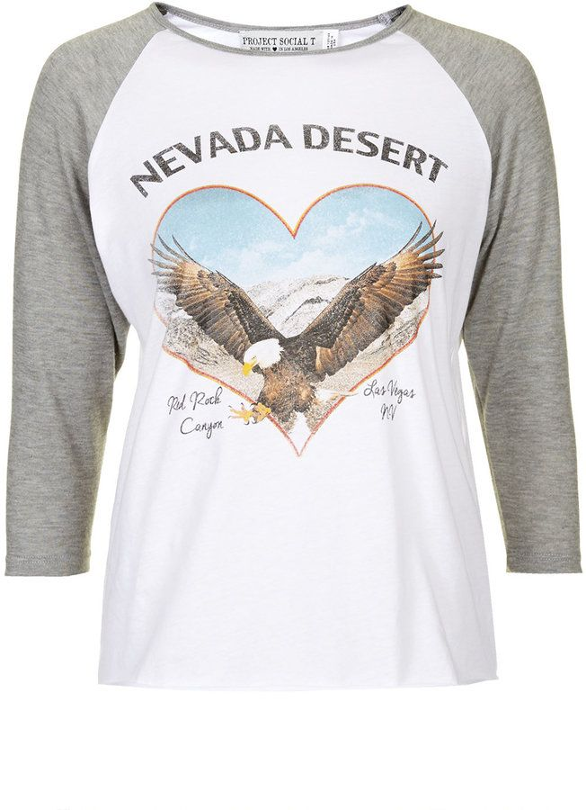 Project social t Nevada desert raglan top