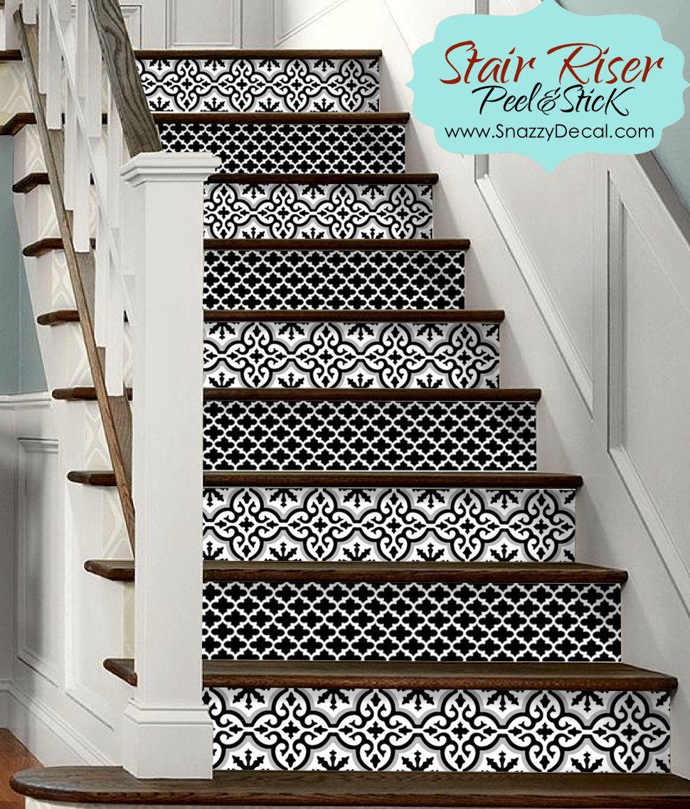 15pc Stair Riser Vinyl Strips Removable Sticker Peel Stick Stair Risers Stair Riser Vinyl Stairs