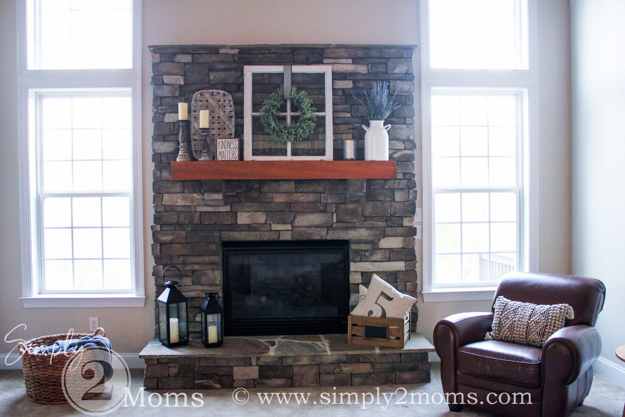 Fireplace Decorating Ideas to take you from Winter through