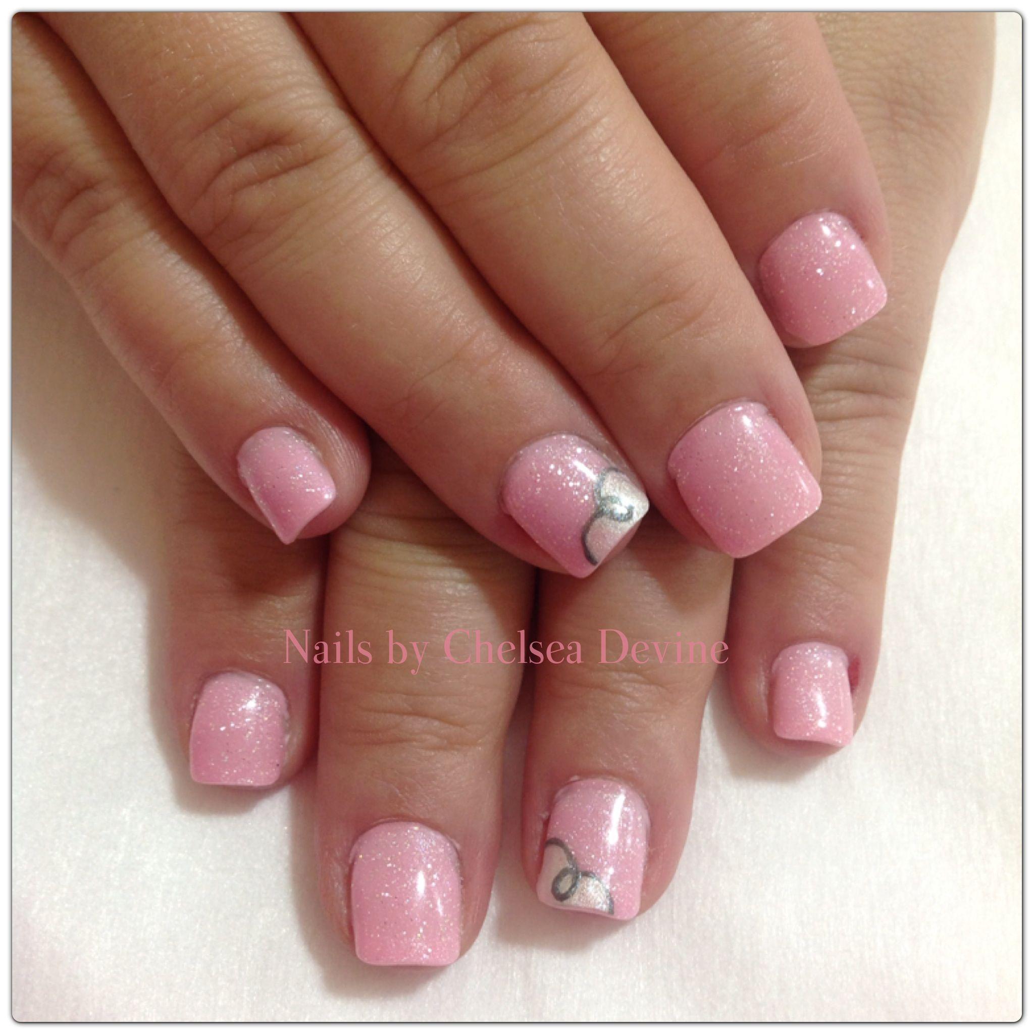 Gel Pink Sparkles summer nails 2013 @Chelsea Devine | Nails by ...